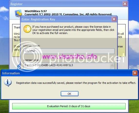 Sử dụng WinUtilities Pro 9.97 có bản quyền
