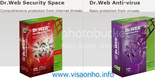 Dr.Web Security Space & Dr.Web Anti-virus: Key file bản quyền 1 năm