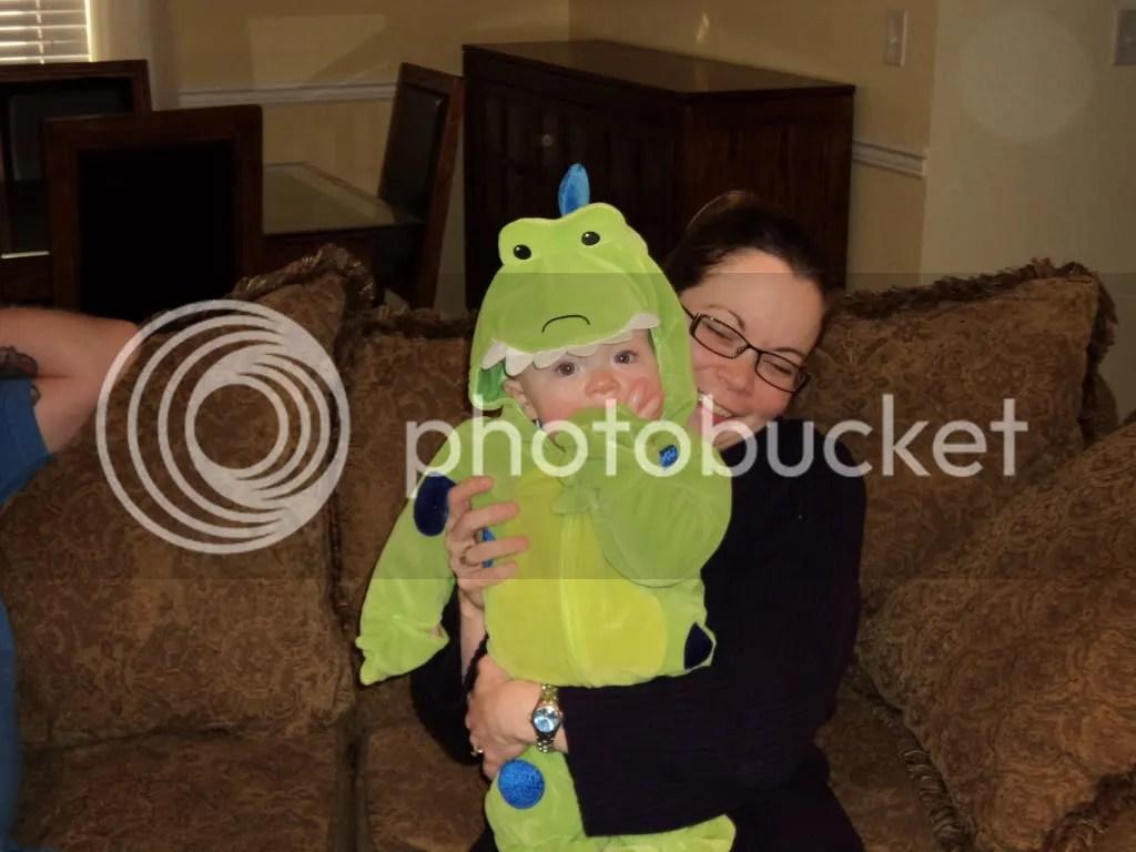 Mommy-saurus and Fletch-o-saurus