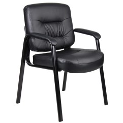 Brown Office Guest Chairs Cheap Dorm Lot Of 8 Black Leather 1 Chair With Wood Details About Accents