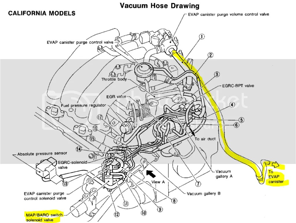 Question About California Evap System Vs Noncali