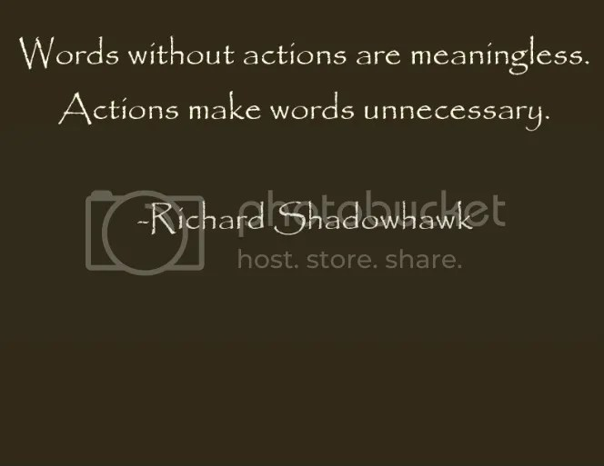 Words v Actions