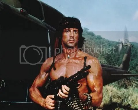 He was like Rambo, minus the douche factor.