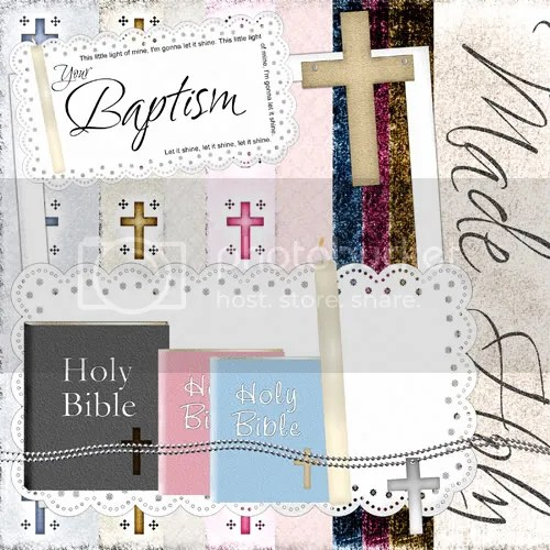 baptism digital scrapbook freebie