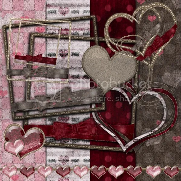 Valentine Digital Scrapbook kit freebie