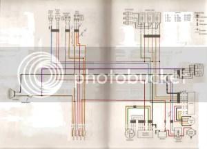 Yamaha XS750 (Triple)  Diagrams: Standard and Chopped
