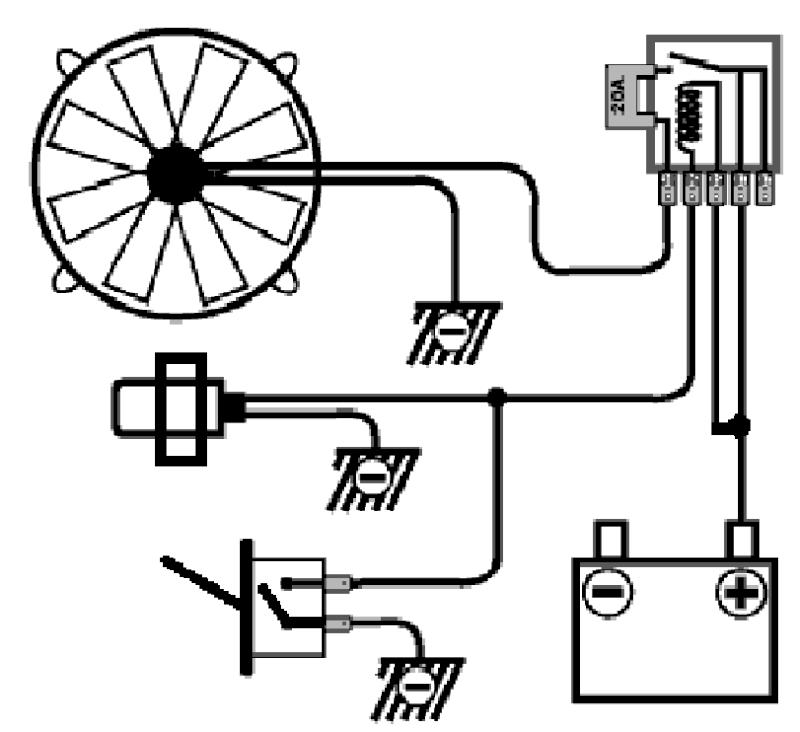 ariel schema cablage d un ventilateur