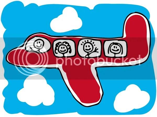 Enjoying A Plane Trip With Children