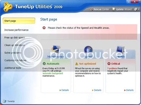 TuneUp Utilities 2009 với key bản quyền miễn phí