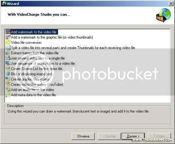 Miễn phí VideoCharge Studio [01/03/2011]