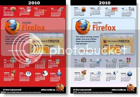 Lịch Firefox 2010
