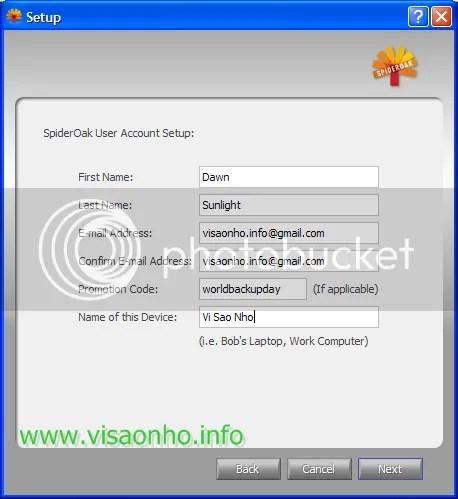 Nhận miễn phí 5 GB lưu trữ trực tuyến từ SpiderOak