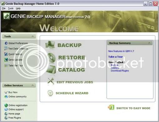 Download Genie Backup Manager Home 7.0 với key bản quyền miễn phí