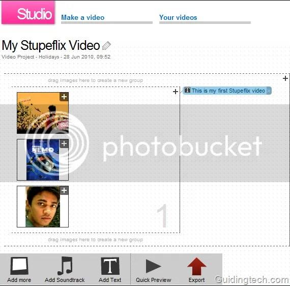 Stupeflix: Công cụ tạo và biên tập video trực tuyến mạnh  mẽ