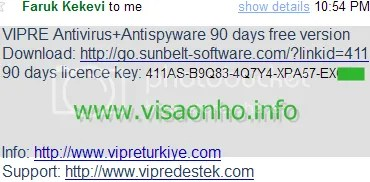 Key code bản quyền VIPRE Home Antivirus + Antispyware