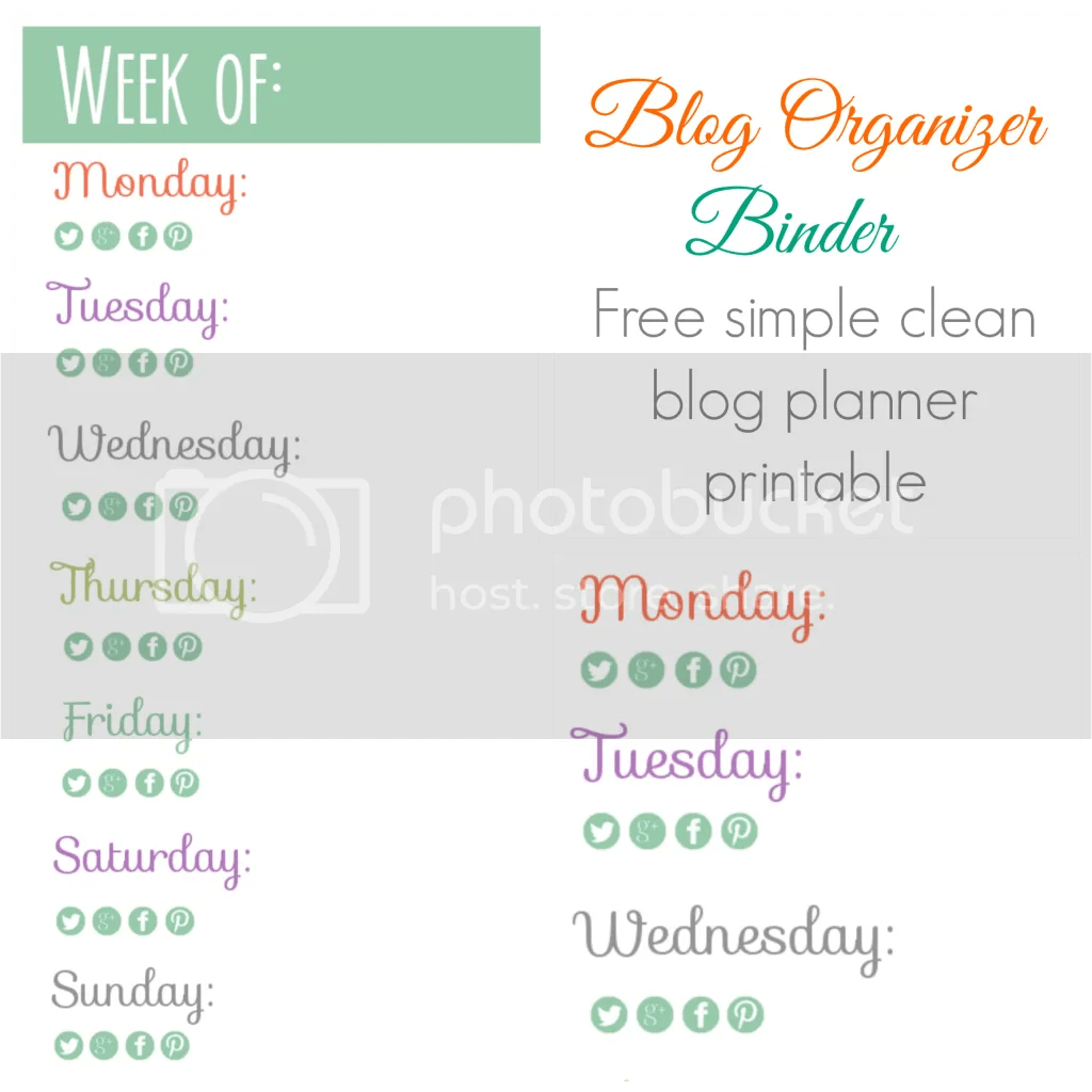 Blog planning binder with monthly calendars and weekly calendars!