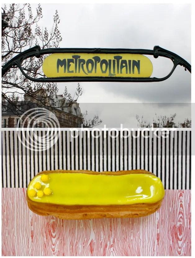 fermata metropolitana di parigi ed eclairs alla mimosa