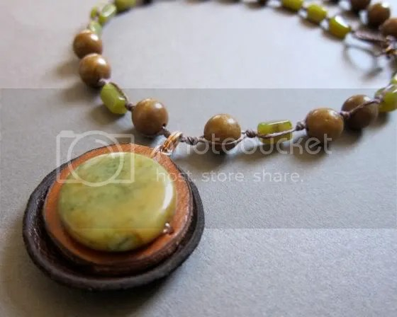 waterstone reclaimed recycled leather necklace