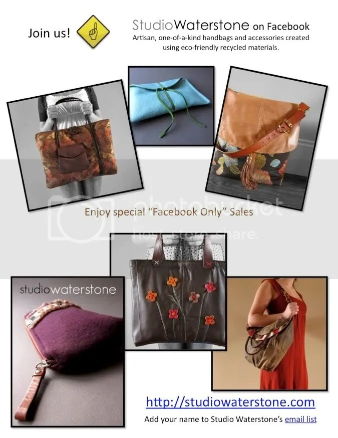 studio waterstone eco recycled leather handbags and accessories