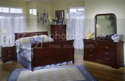 cherrywood sleigh bed