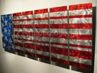 MODERN ABSTRACT METAL PAINTING WALL ART DECOR AMERICAN ...