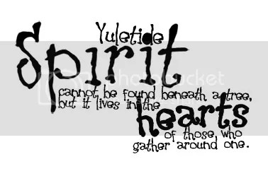 yuletide spirit wordart