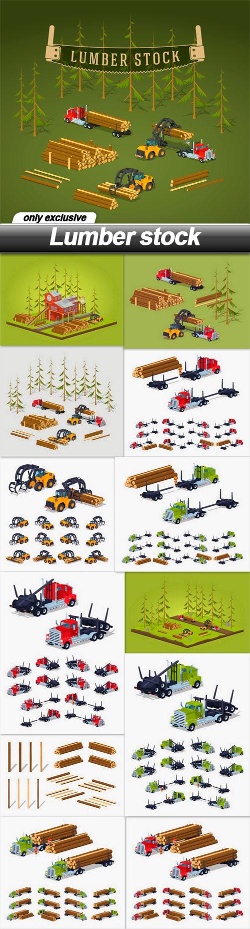 Lumber stock - 13 EPS