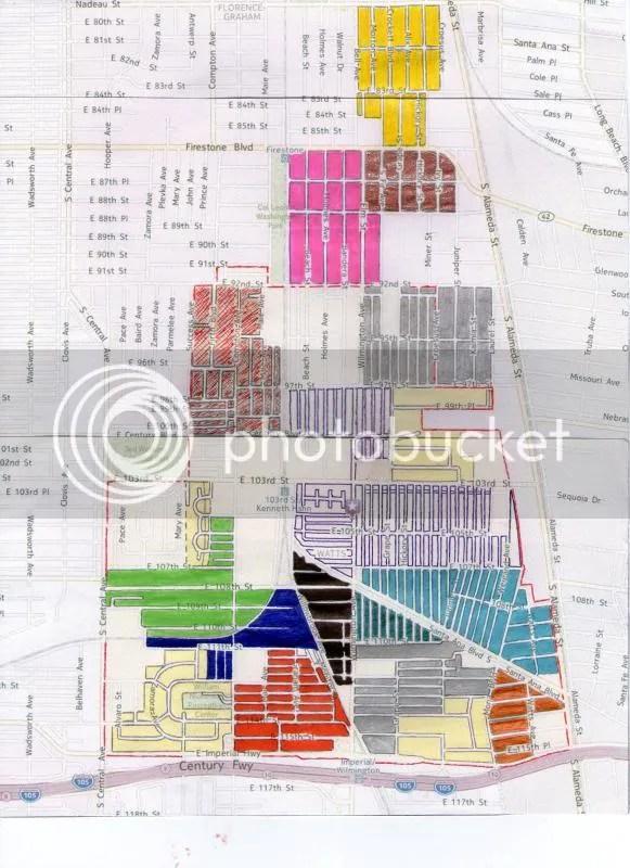 Watts Gang Map : watts, Watts, Varrios, StreetGangs.Com, Forum, Gangs, Around, World