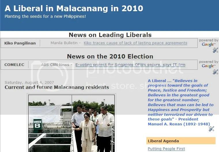 A Liberal in Malacanang in 2010