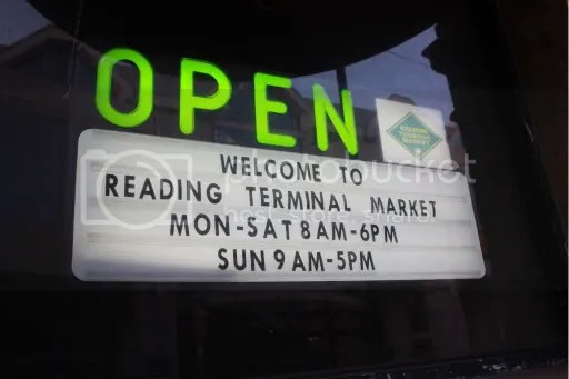 Sign for Reading Terminal Market
