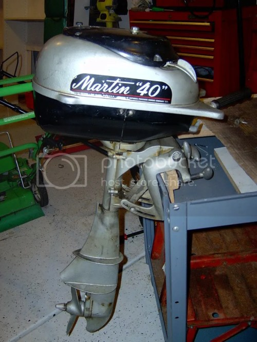 small resolution of by the way it is a 1950 martin 40 4 1 2 horsepower now i just need a wooden boat to put it on