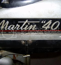 by the way it is a 1950 martin 40 4 1 2 horsepower now i just need a wooden boat to put it on  [ 1024 x 768 Pixel ]