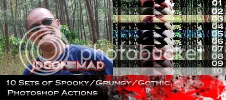 jdGONEMAD Spooky Photoshop Action