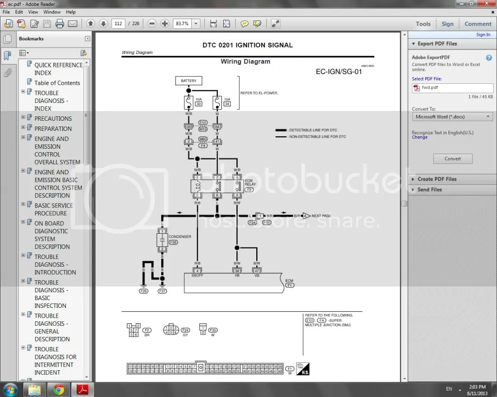 hight resolution of here is a picture of the eccs relay in the fsm the 2nd page shows the coilpacks but the s15 didnt use a ignitor chip like the s13 and s14 did