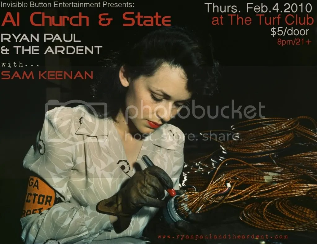 Ryan Paul & THE ARDENT, Al Church & State, Sam Keenan at Turf Club