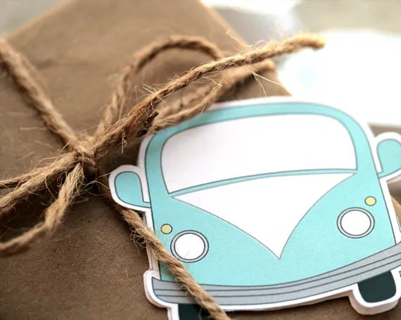 Printable VW bus gift tag | la-fabrique-a-bricole