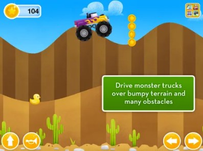 Racing in the More Trucks app | Cool Mom Tech