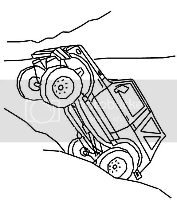 Suzuki Samurai Cartoon Sketch Coloring Page