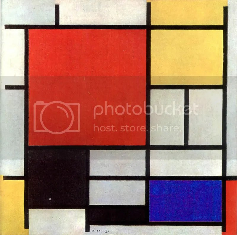 Composition with Red. Yellow and Blue by