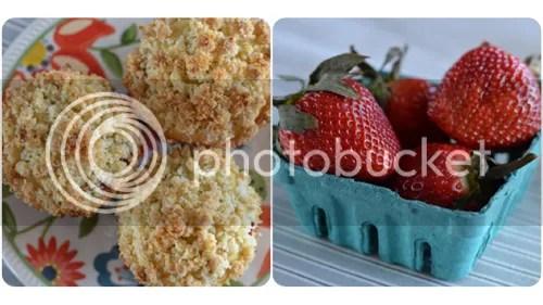 Gluten-Free Strawberry Crumb Muffins | http://mybakingheart.com