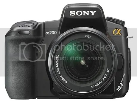 My Camera - Sony A200 DSLR