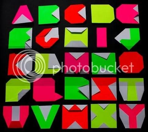 Emma Downing - Origami alphabet