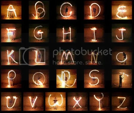 Nir Tober - Light writing alphabet