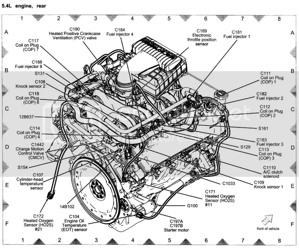 hight resolution of ford 4 6 triton engine diagram
