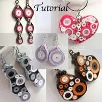 paper quilling tutorial retro circle jewelry