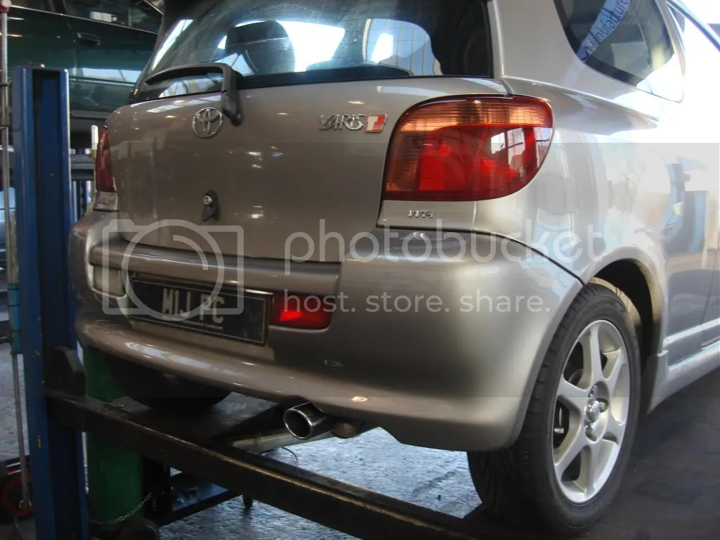 toyota yaris trd exhaust 2013 bekas direct fit t sport 1 3 and 5 vvt i