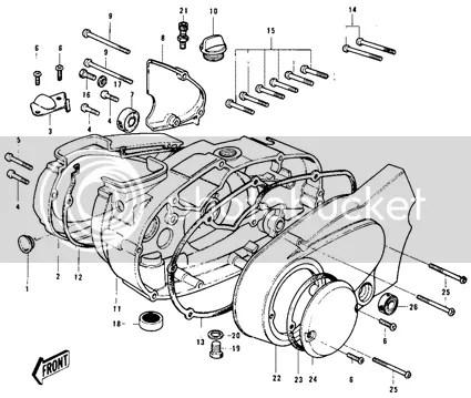 Genuine Kawasaki G3SS G3TR KE100 G7 KH100 Engine Crank