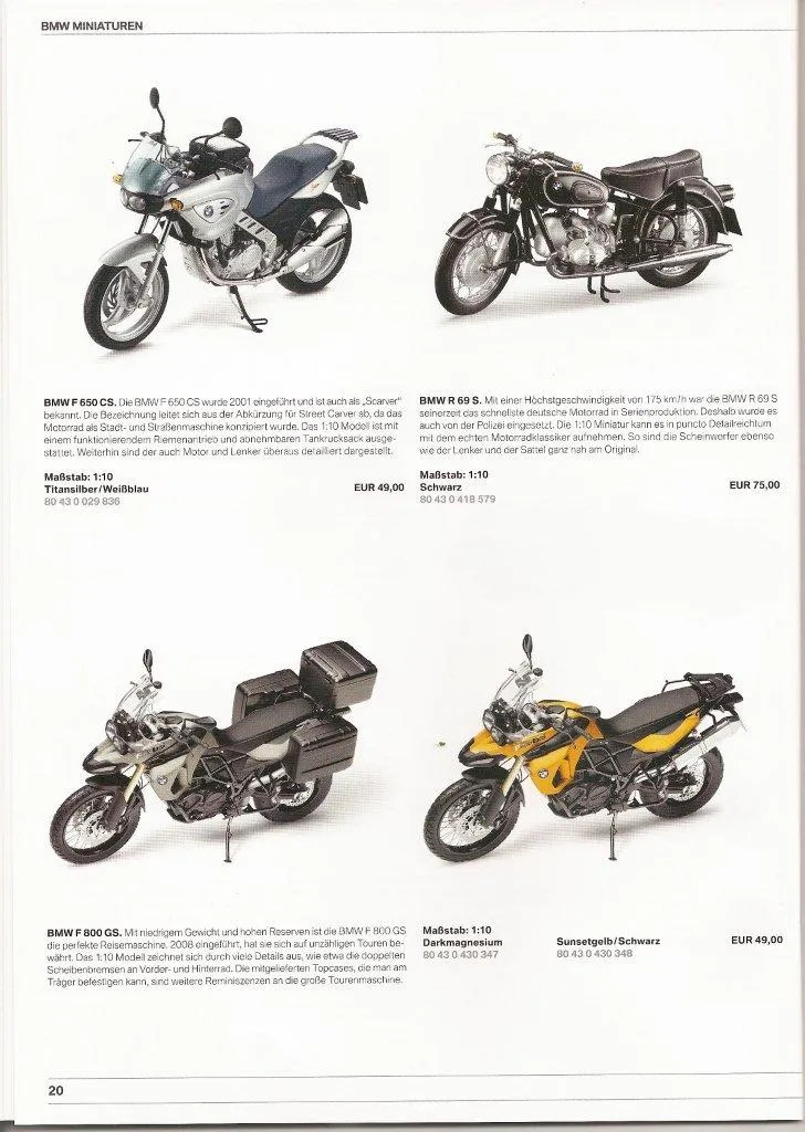 BMW official toy model catalog...