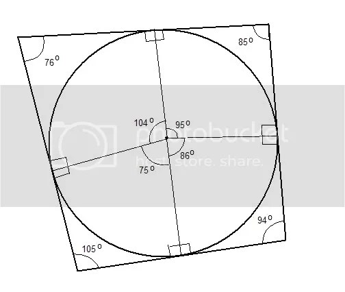 Difficult Geometry Question: Circle Inscribed in a