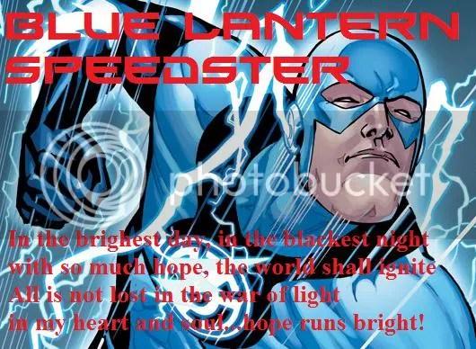 blue lantern flash symbol